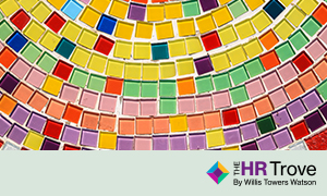 colorful mosaic with HR Trove logo